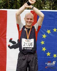 Berlin Marathon 2004 - After winning the race...